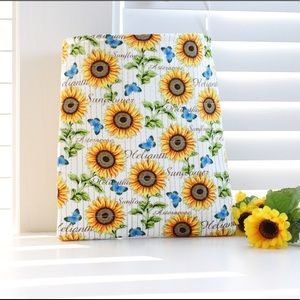 Quilted sunflower book cover